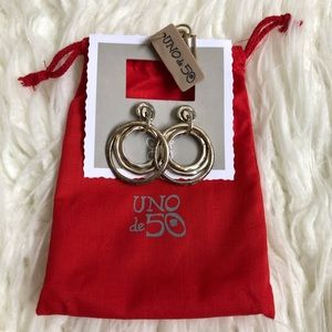 Uno de 50 Silver Plated Statement Earrings NWT